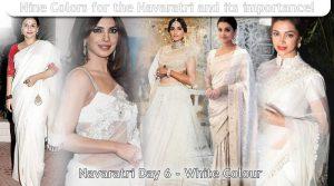 Navaratri Day 6 - white Colour