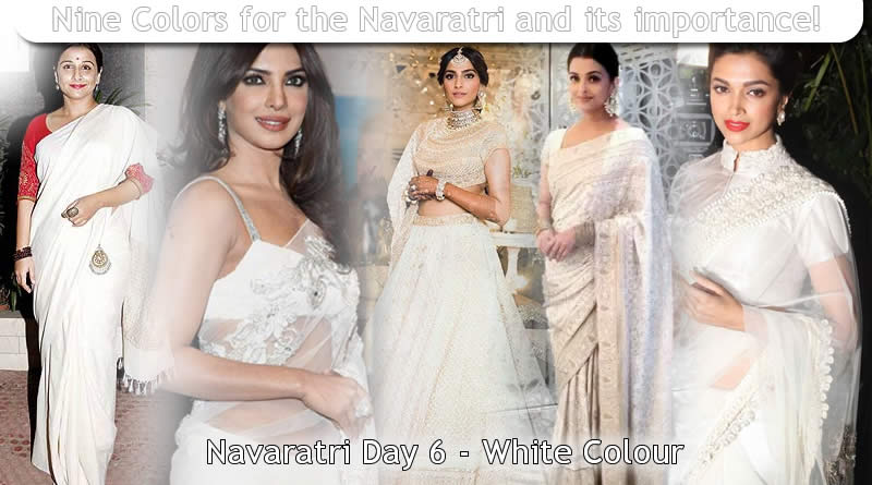 Navaratri Day 6 - white Colour