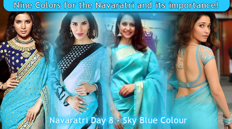 Navaratri Day 8 - Sky Blue Colour