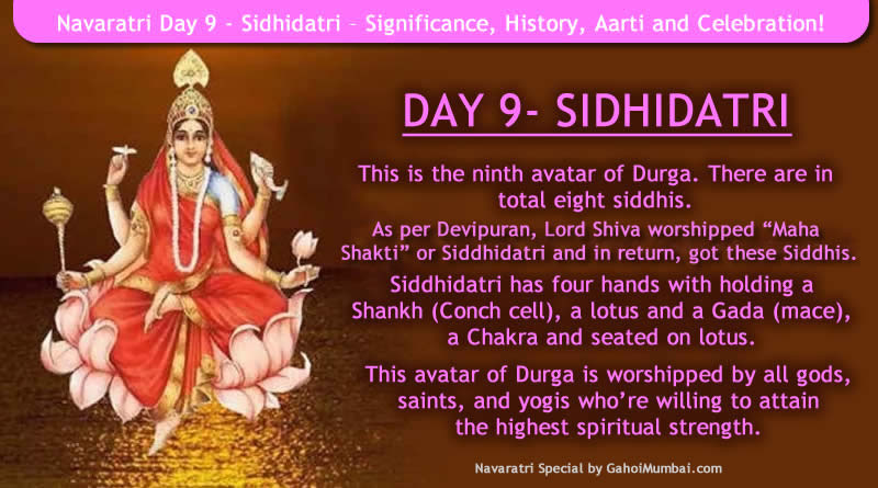Navaratri Day 9 - Significance, History, Aarti and Celebration