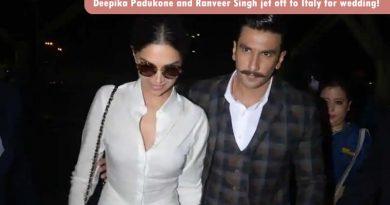 Deepika Padukone and Ranveer Singh jet off to Italy for wedding!