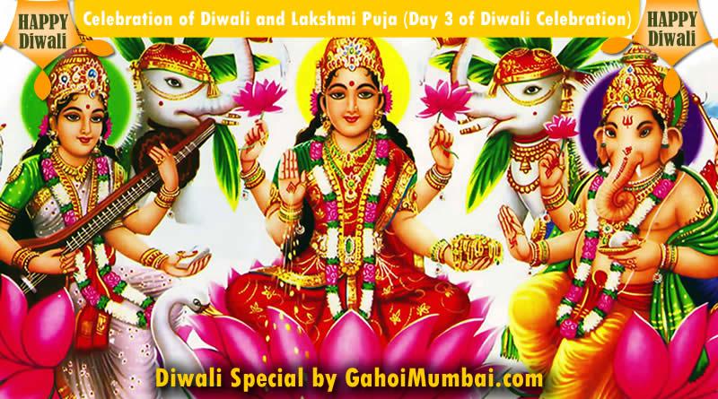 Celebration of Diwali and Lakshmi Puja (Day 3 of Diwali Celebration)