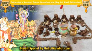 Celebration of Annakut, Padwa, Govardhan puja (Day 4 of Diwali Celebration)