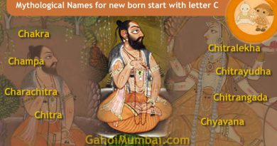 Mythological, Historical, Vedic and Hindu Legendary Names for new born start with letter C with meanings!