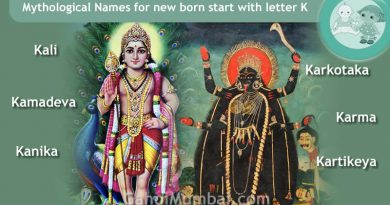 Mythological, Historical, Vedic and Hindu Legendary Names for new born start with letter K with meanings!
