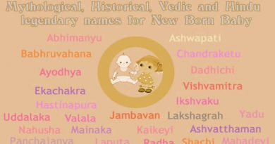 Mythological, Historical, Vedic and Hindu Legendary Names for new born start with letter A to Z with meanings!