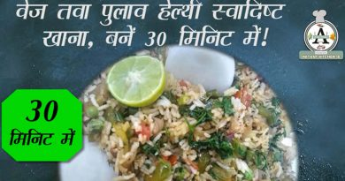Information about Veg Tawa Pulav – an Indian Main Course Cuisine recipe and its stepwise making video.