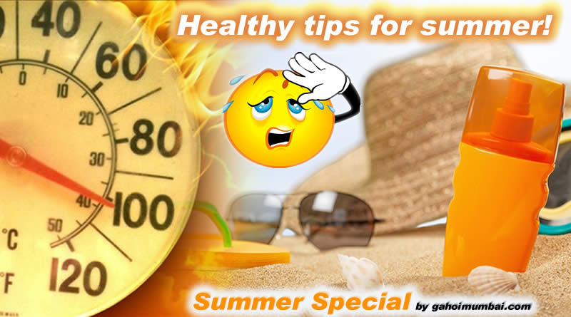Healthy tips for summer – a rising temperature season!