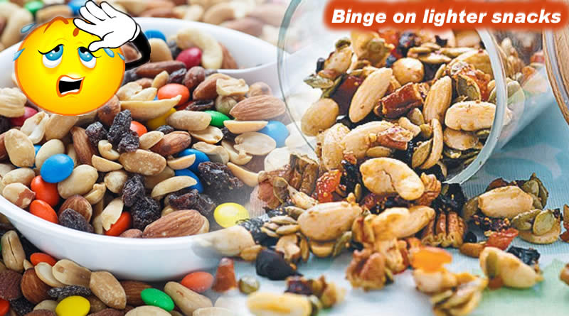 Binge on lighter snacks