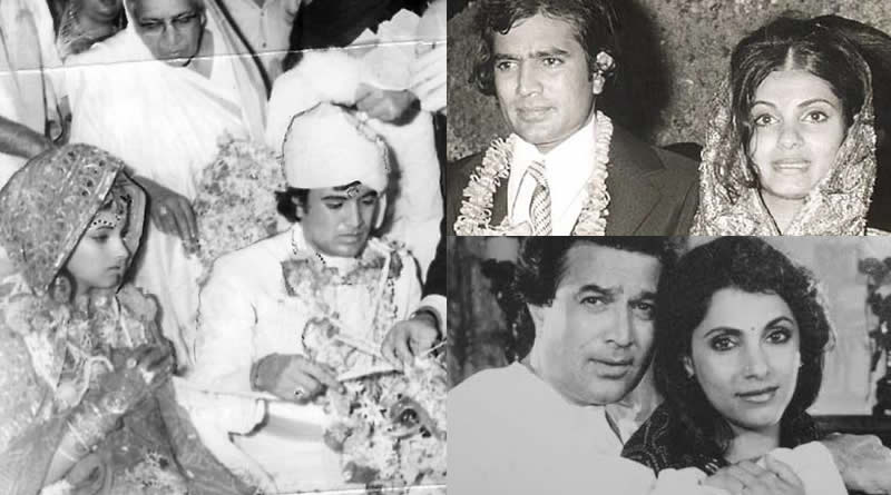 Dimple Kapadia and Rajesh Khanna's wedding in 1973