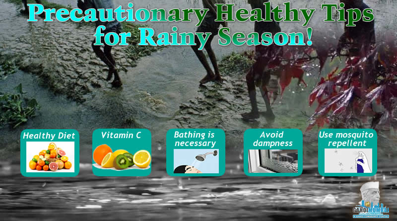 Precautionary Healthy Tips for Rainy Season!
