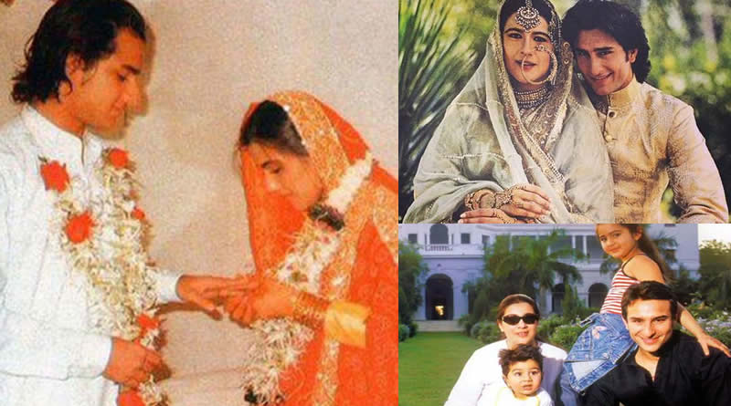 Saif Ali Khan and Amrita Singh's wedding in 1986
