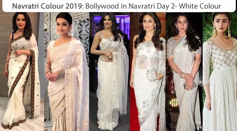 Navaratri colour 2019 - Bollywood Actress Navratri Colour white for Monday - Day 2