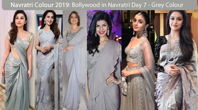 Navaratri colour 2019 - Bollywood Actress Navratri Colour Grey for Saturday - Day 7