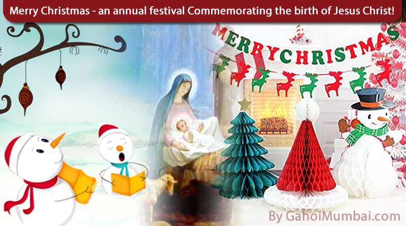 Decorations and Carols for Merry Christmas