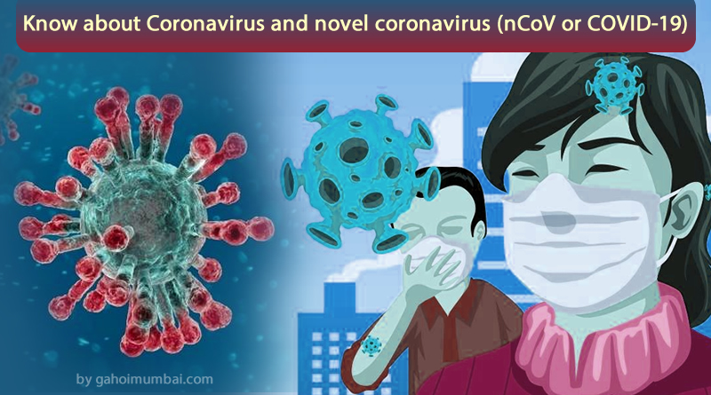 Know about Coronavirus and novel coronavirus, transmission, symptoms and preventions!