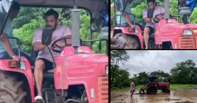 Salman Khan tries his hands in farming by driving tractor!
