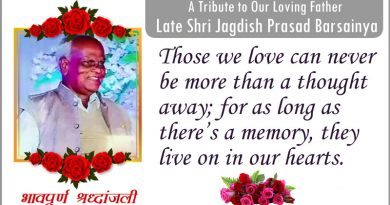 A Tribute To My Beloved Father Shri Jagdish Prasad Barsainya