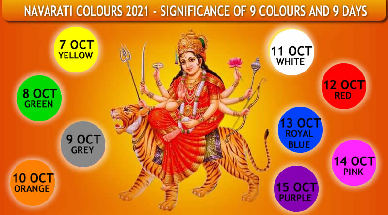 Navararti Colours 2021 – Significance of 9 colours for 9 days!